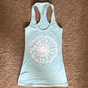 Lulu Lemon SoulCycle Light Blue Tank Top